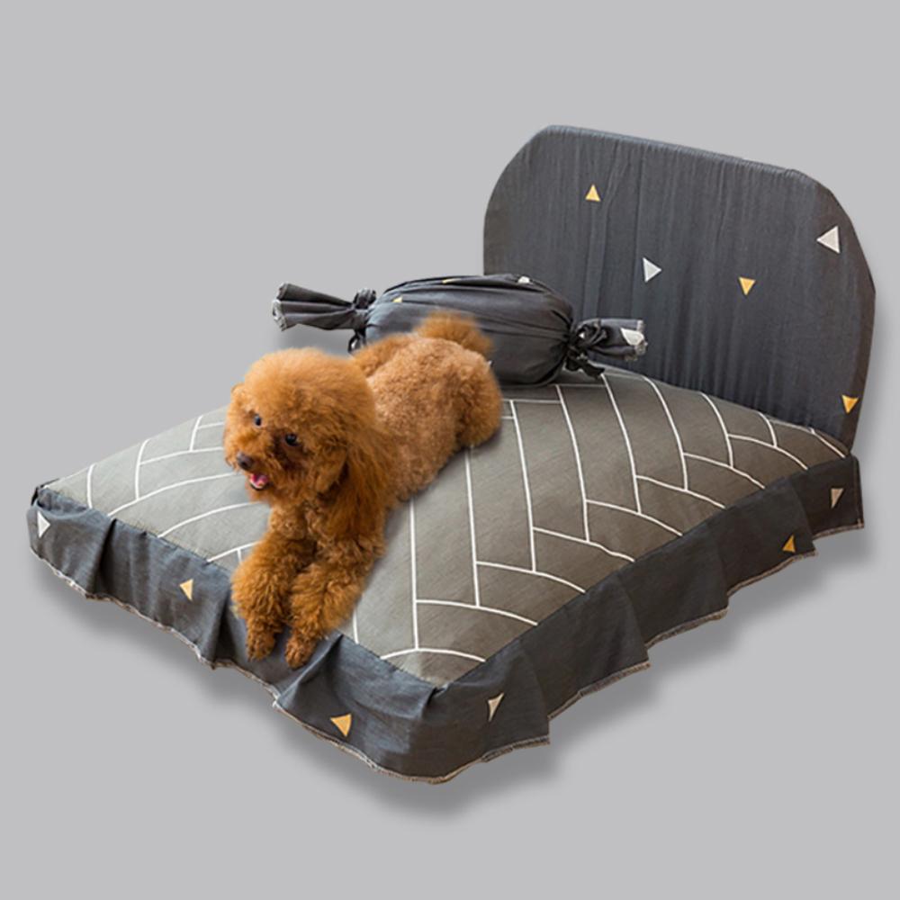 요기쏘 반려동물 침대형 방석, 그레이