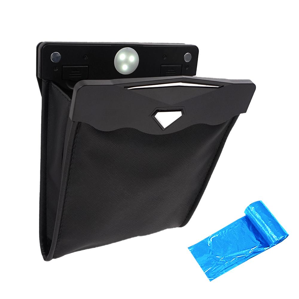 [자동차용품] 삼에스 차량용 포켓형휴지통 앞좌석용 + 쓰레기봉투롤, 1세트 - 랭킹66위 (12150원)
