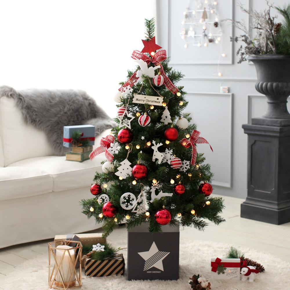 조아트 크리스마스 트리 풀세트 + 윈도우 데코스티커, 모나코레드