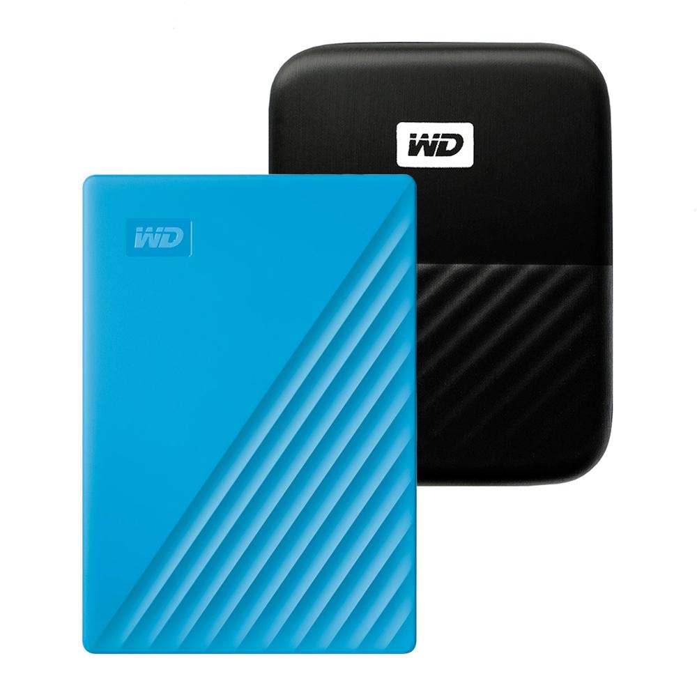 WD My Passport 휴대용 외장하드 + 파우치, 1TB, 블루