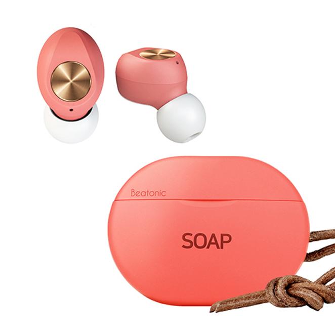 앱코 BEATONIC SOAP 블루투스 이어폰, 코랄