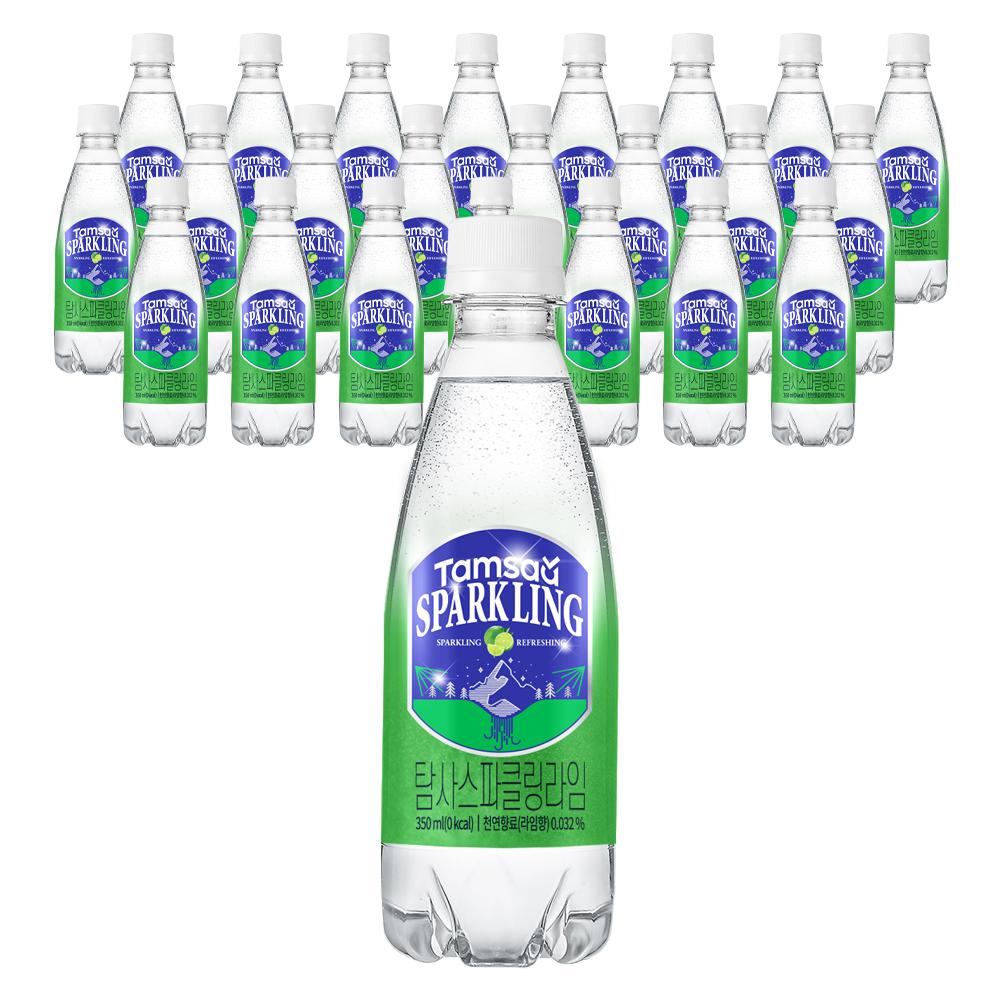 탐사 스파클링 라임 탄산음료, 350ml, 24개