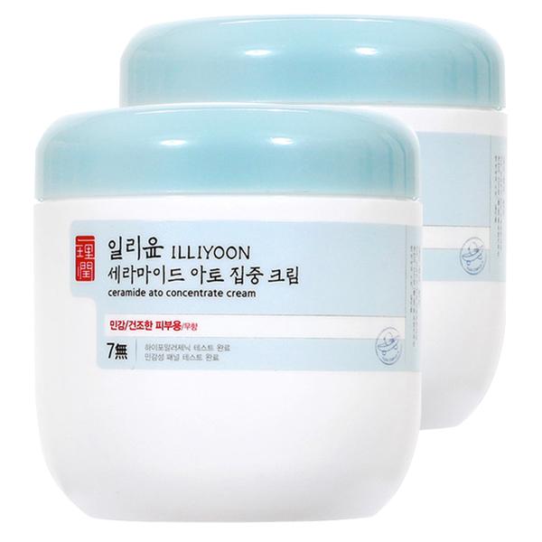 일리윤 세라마이드 아토 집중 크림 무향, 500ml, 2개
