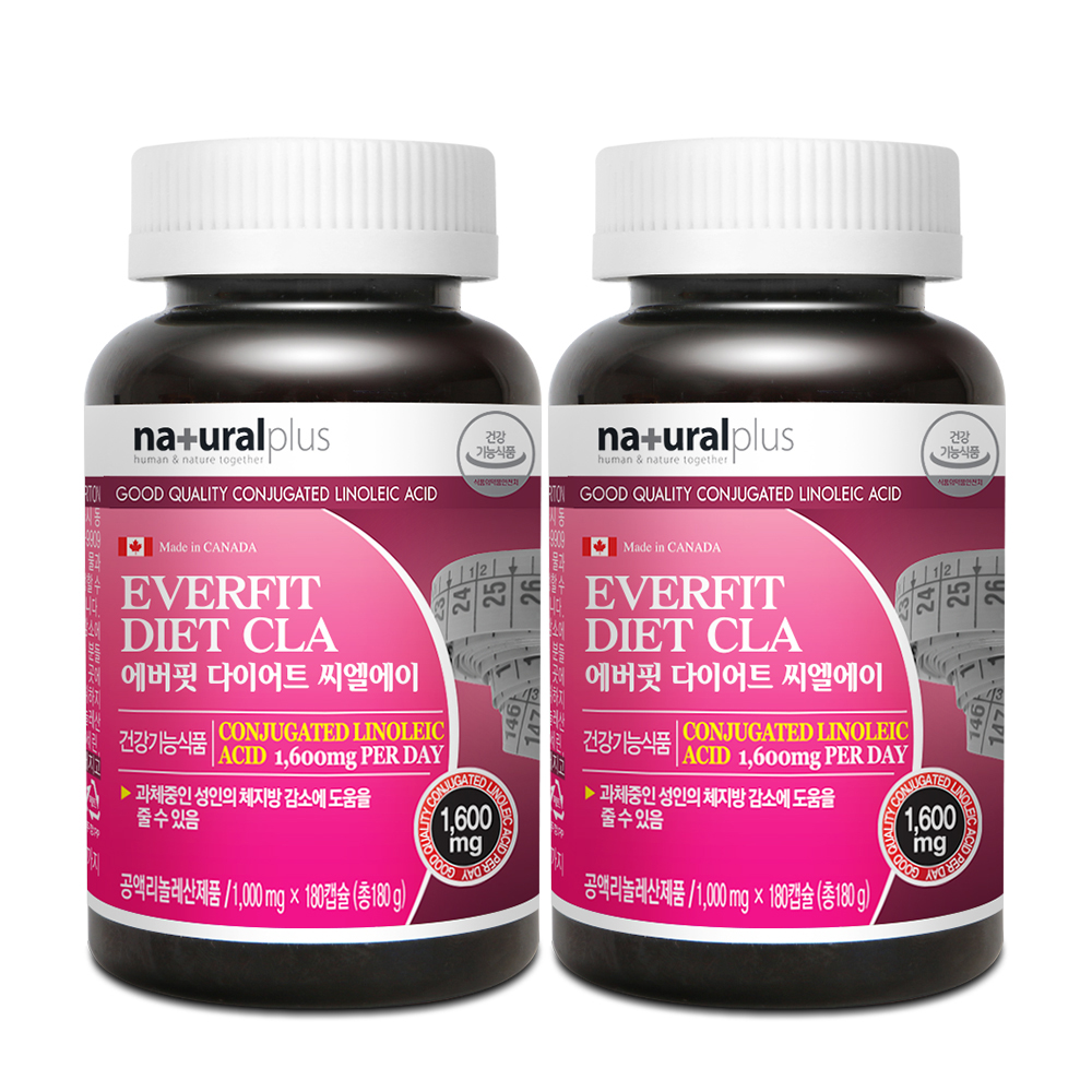 내츄럴플러스 에버핏 다이어트 CLA, 180캡슐, 2개입