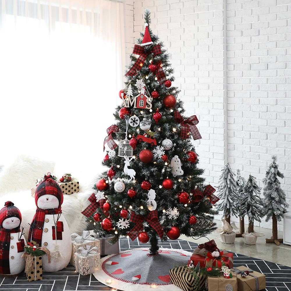 조아트 크리스마스 트리 풀세트 + 윈도우 데코스티커, 에리카레드