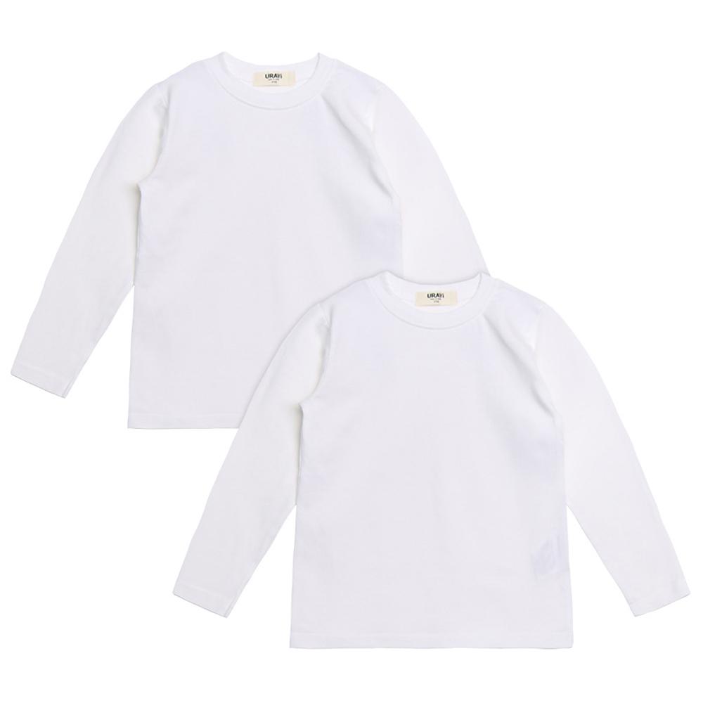 유라비 아동용 베이직 라운드 기본 티셔츠 2p 91TR0023