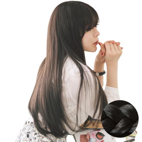 가발나라 여성 통가발 시스루앞머리 긴생머리 S, NEW내츄럴블랙, 1개