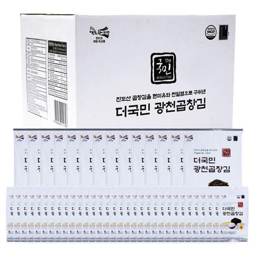 [Gold box] 더국민 현미유 광천곱창김 도시락김 5g x 32p + 전장김 20g x 14p, 1세트 - 랭킹3위 (23900원)