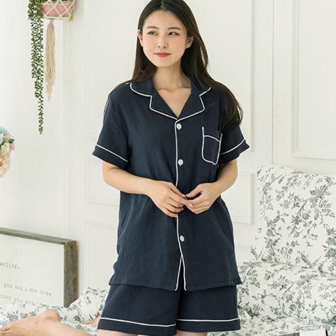 [여름파자마] 코튼원 여성용 반팔 잠옷 세트 - 랭킹42위 (19900원)