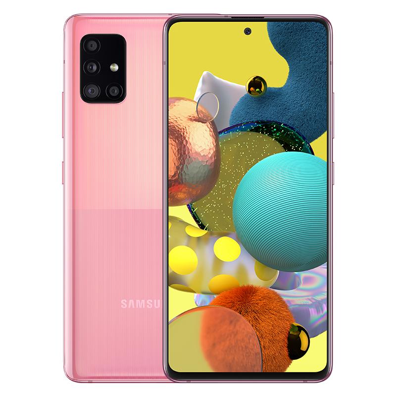삼성전자 갤럭시 A51 5G 휴대폰 SM-A516N, 프리즘 큐브 핑크, 128GB