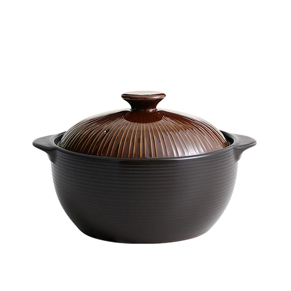 리한 라인팟 무균열 뚝배기 내열냄비 브라운, 2호(18cm), 1개