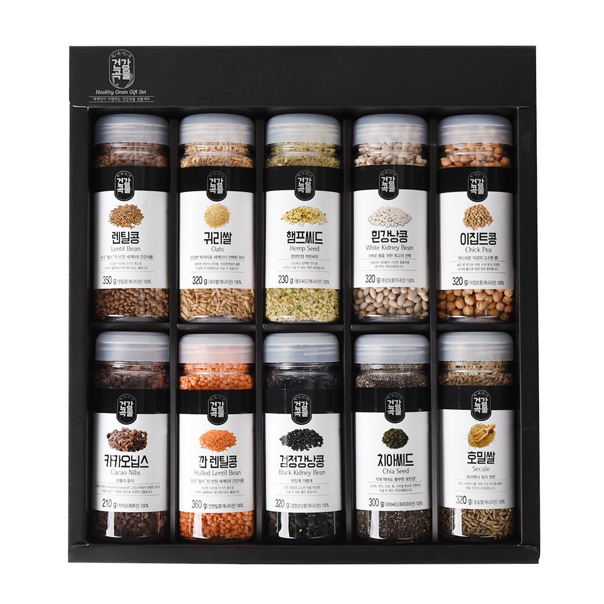 두보식품 세계인의 건강곡물 10종 선물세트 3.05kg + 포장 박스, 1세트