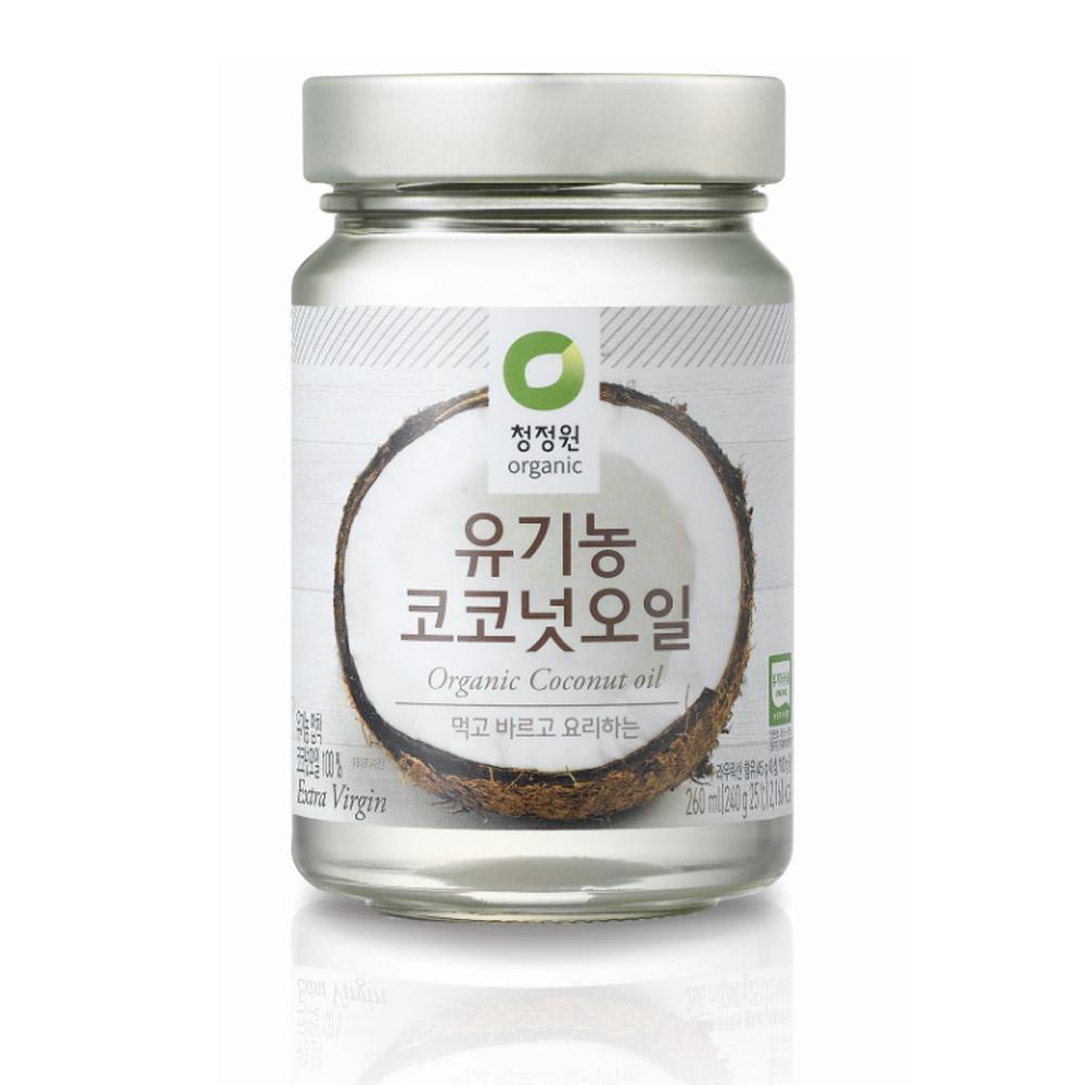 청정원 유기농 코코넛오일, 260ml, 1개
