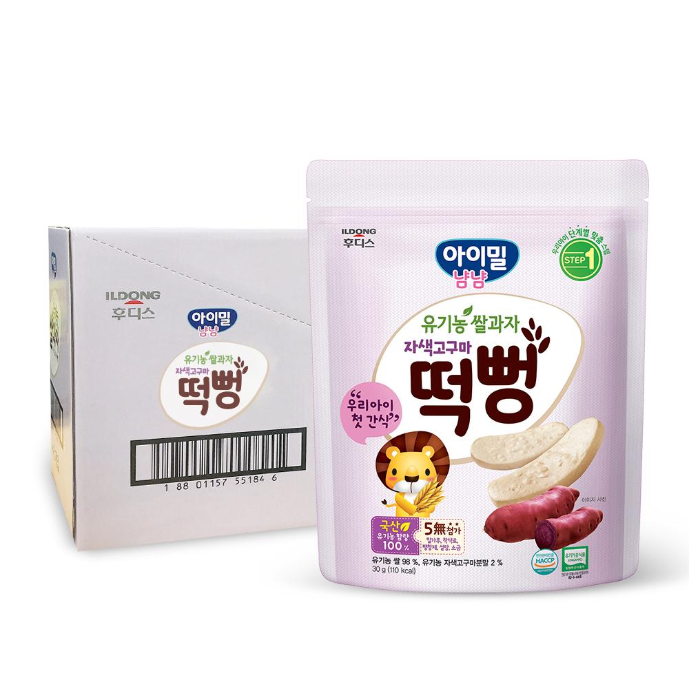 일동후디스 아이밀냠냠 유기농 쌀과자 떡뻥, 고구마, 6개