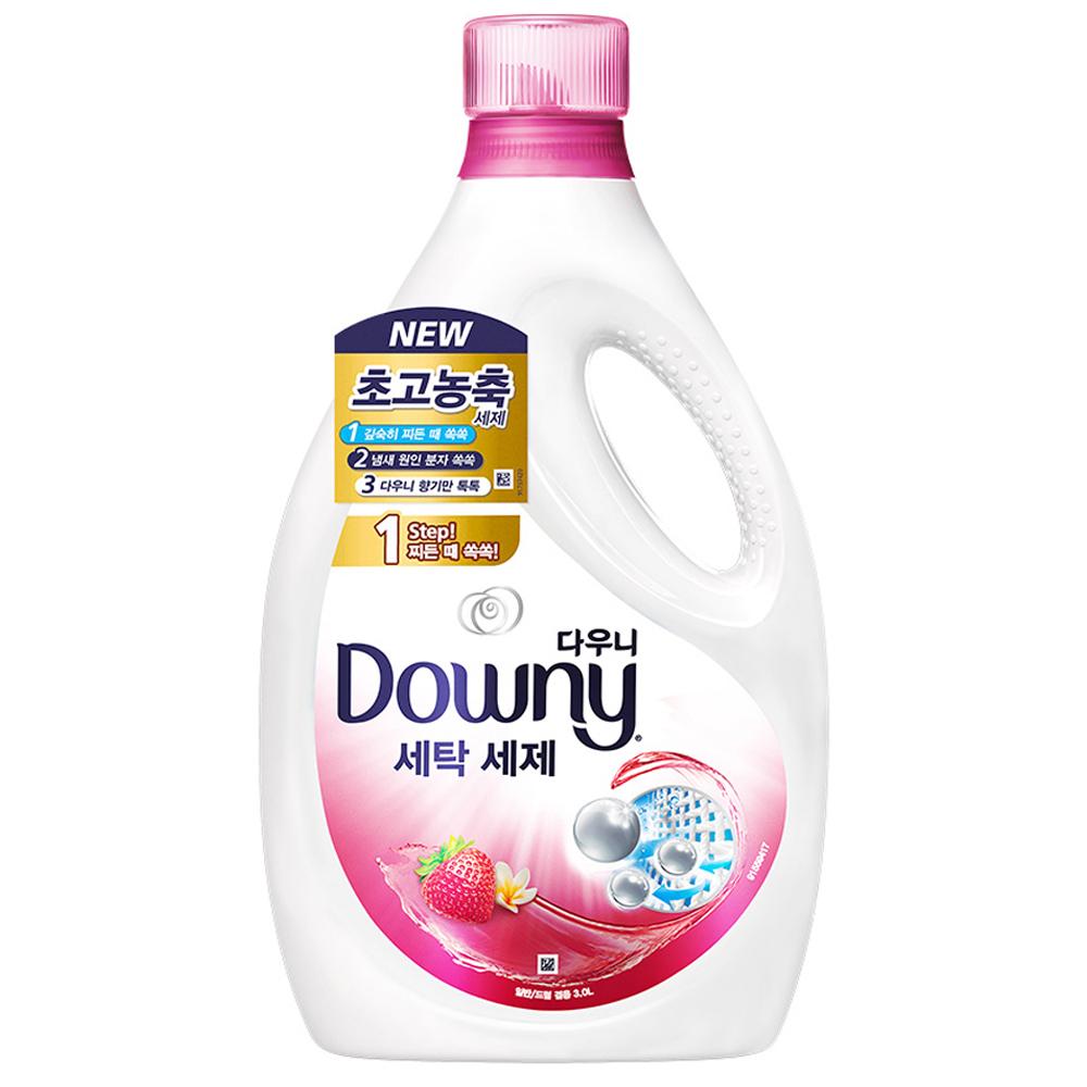다우니 프리미엄 핑크 액상세제 본품, 3L, 1개
