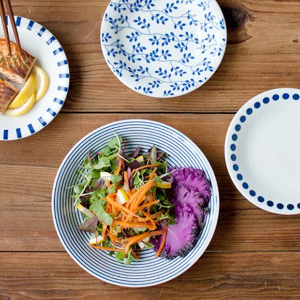 니코트 블루에가와리 파스타접시 세트, 1세트, 접시 4종