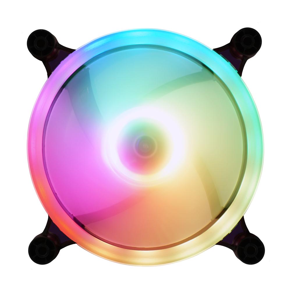 다얼유 태풍의눈 120mm RGB 쿨링팬, 단일 상품