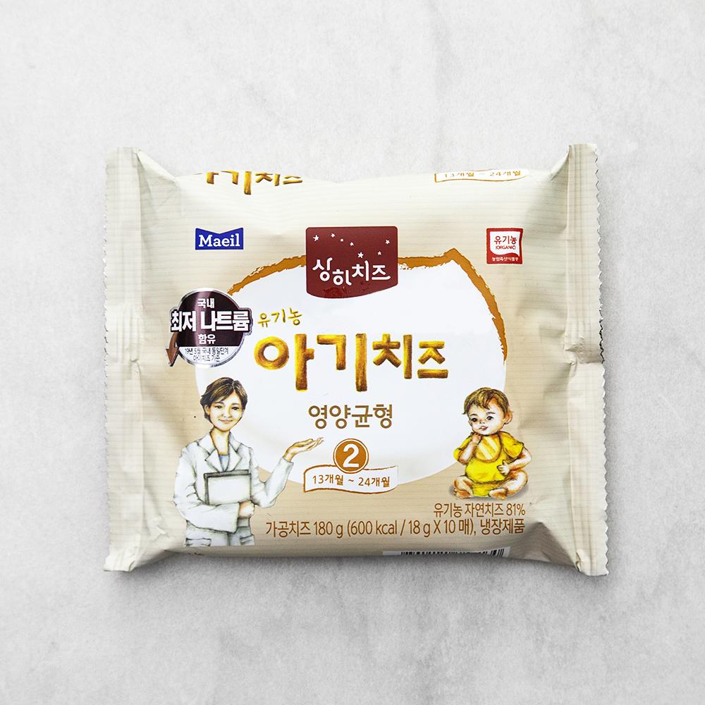 상하치즈 유기농인증 아기치즈 영양균형 2단계 10매입, 180g, 1개