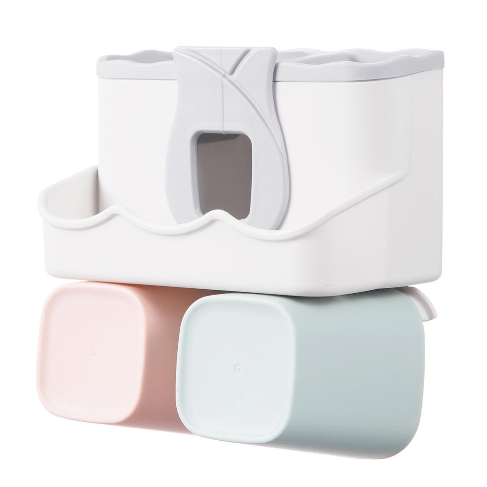 비타할로 칫솔걸이 욕실수납홀더 2구, 단일색상
