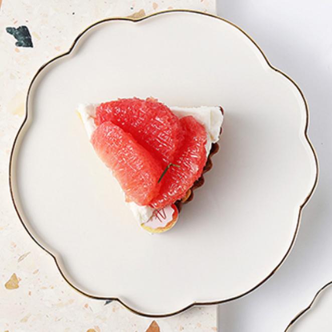 제이테이블 앙쥬 블라썸 골드 플레이트 접시, 밀크화이트