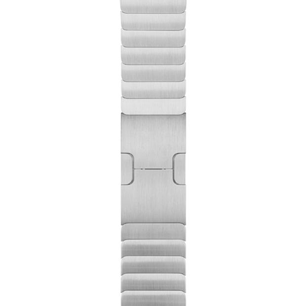 Apple 정품 애플워치 3/6/SE 링크 브레이슬릿, 42/44mm, Silver