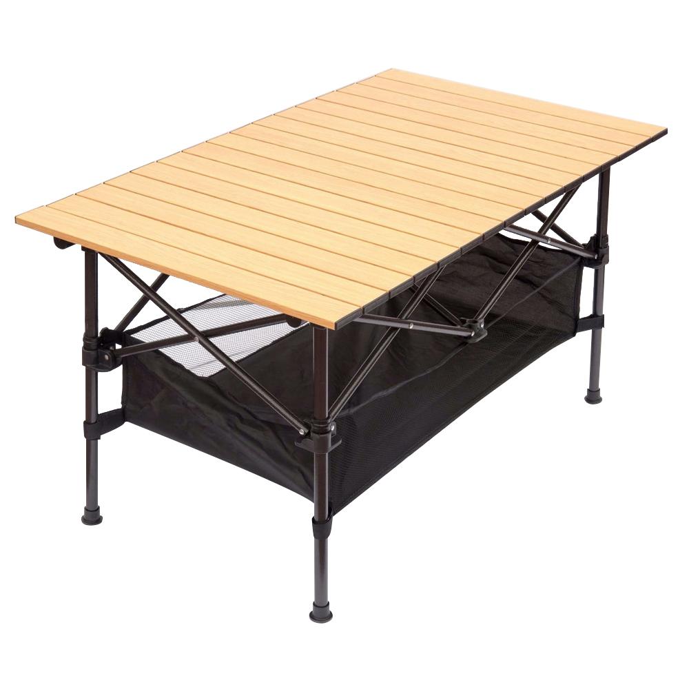 [Gold box] [쿠팡 직수입] 아웃도어 포레스트 알루미늄 디럭스 롤 캠핑 테이블, 네츄럴 우드 - 랭킹13위 (37000원)