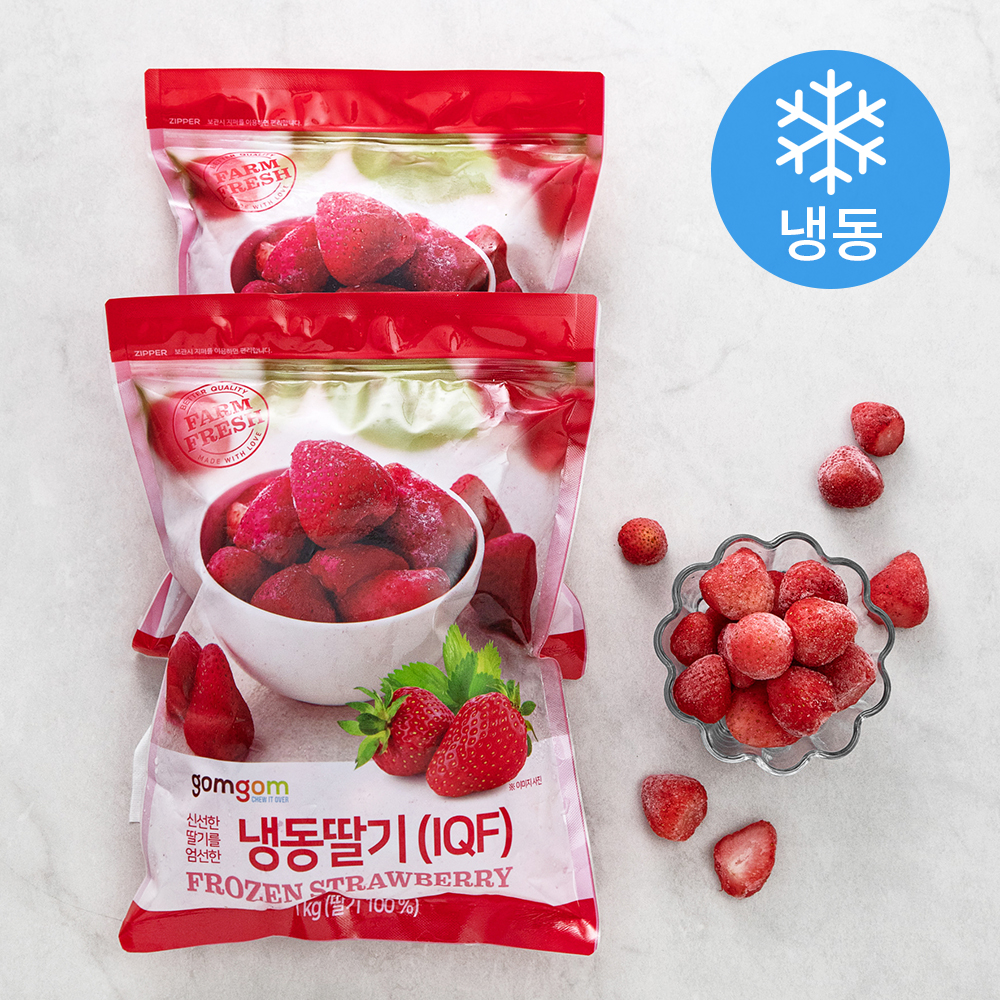 곰곰 냉동 딸기, 1kg, 2개