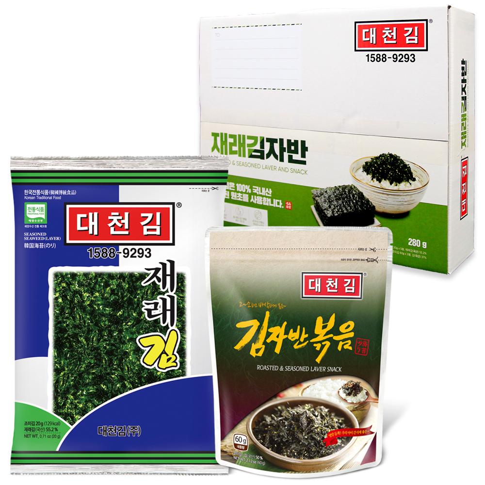 대천김 재래김 20g x 5p + 김자반볶음 60g x 3p, 1세트