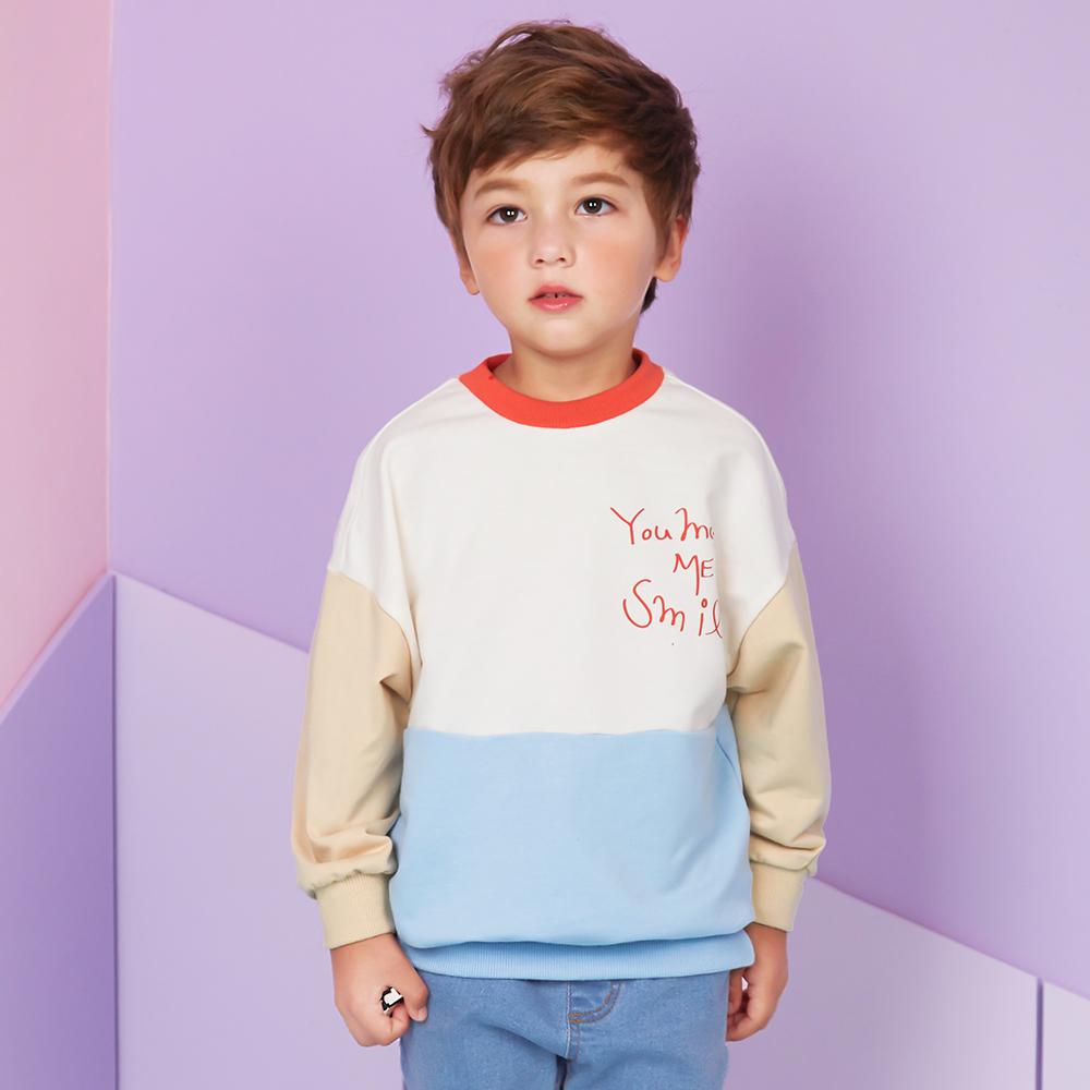 월튼키즈 아동용 상큼 컬러블럭 티셔츠