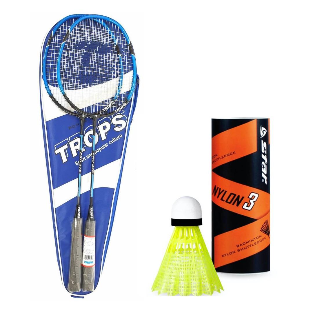 [배드민턴 라켓] 가와사키 트로프스 야외용 레저용 배드민턴 라켓 풀세트 패키지, UP-PRO275, 1세트 - 랭킹14위 (19000원)