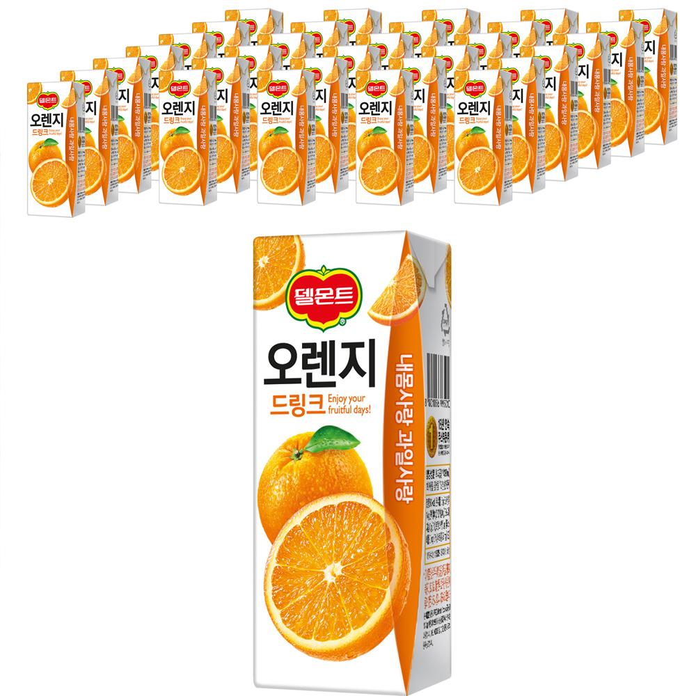 델몬트 드링크 오렌지, 200ml, 32개