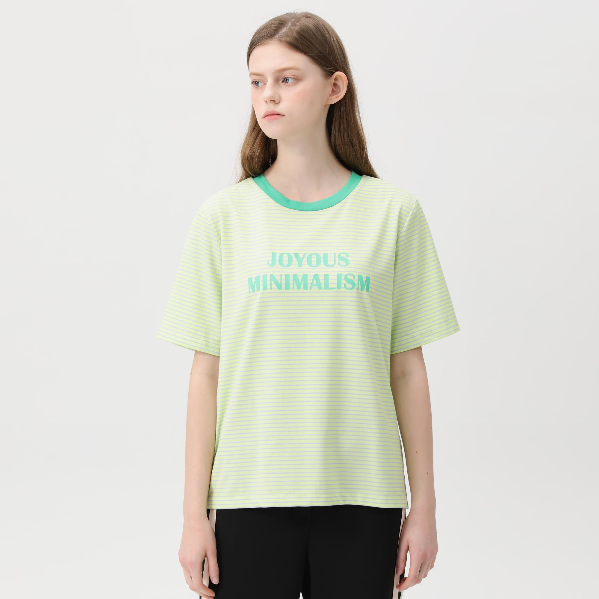 쥬시쥬디 여성용 제이 컬러 스트라이프 프린트 티셔츠 JVTS320F-8-5526075807