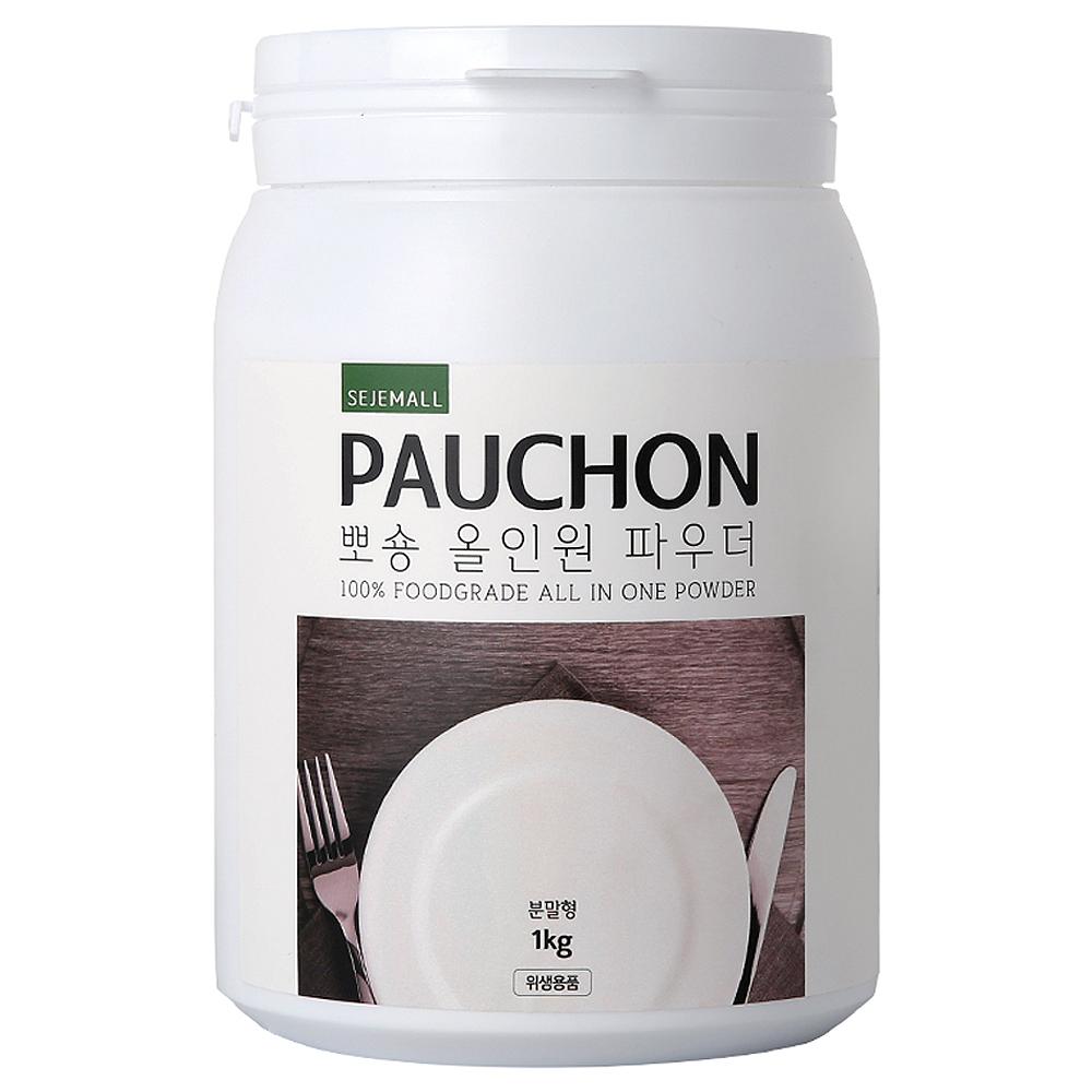 뽀숑 올인원 파우더 식기세척기 세제, 1kg, 1개