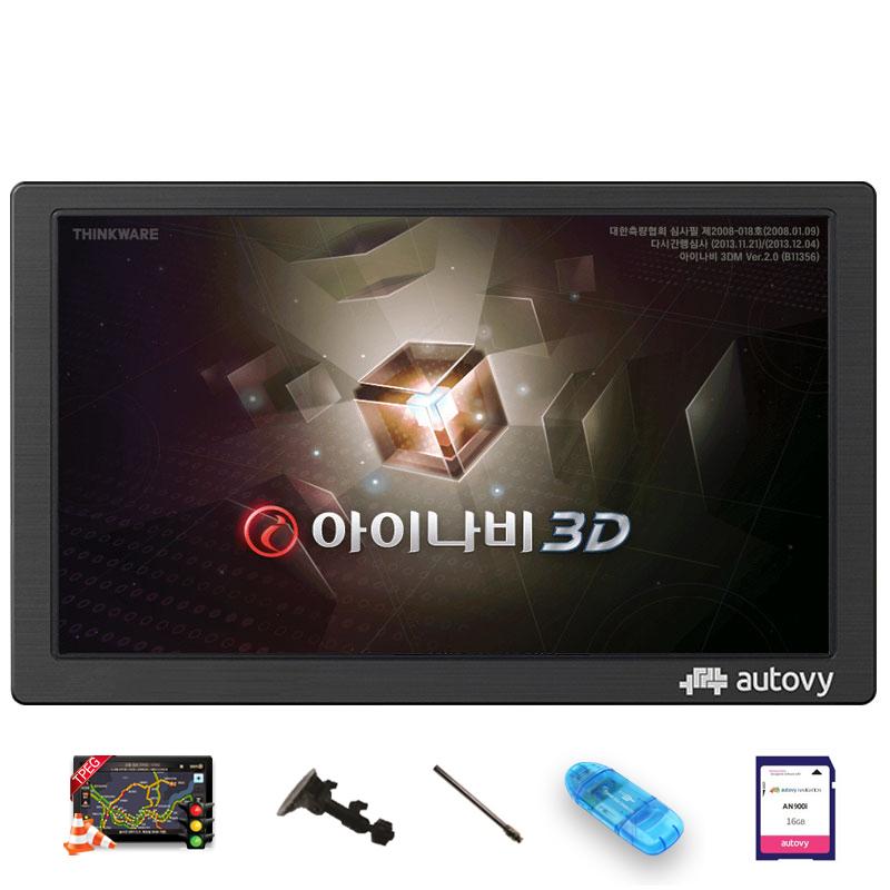 아이나비3D 오토비 AN900(16G) 20.3cm 네비게이션+TPEG+사은품5종 무제한무료, 아이나비 3D 오토비 AN900(16G)고급거치대+DMB로드안테나