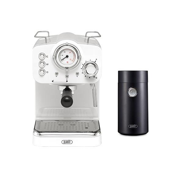 [커피머신] 플랜잇 커피머신 홈카페 에디션 + 커피그라인더, PCM-F15W(크림화이트) - 랭킹55위 (166470원)