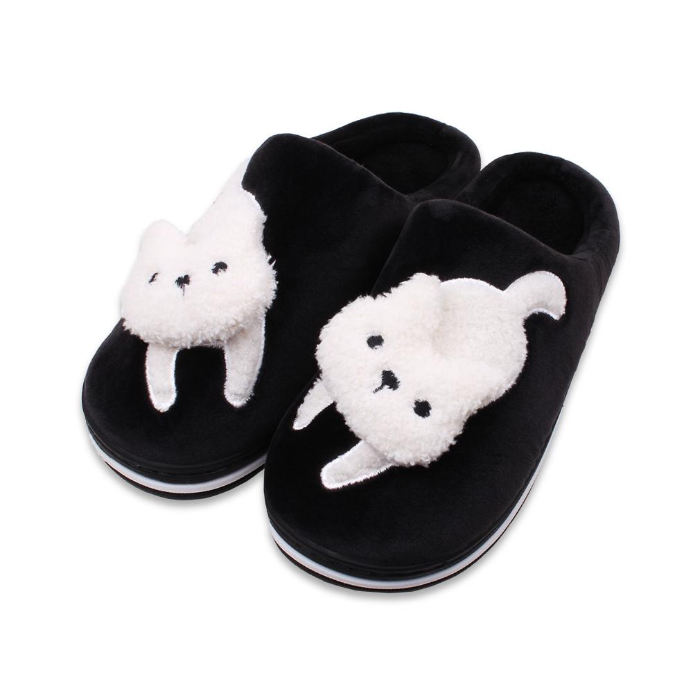 슈퍼카미트 여성용 고양이 겨울 털 슬리퍼 WT330