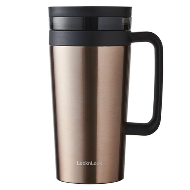 락앤락 커피 필터 머그 텀블러, 골드, 580ml
