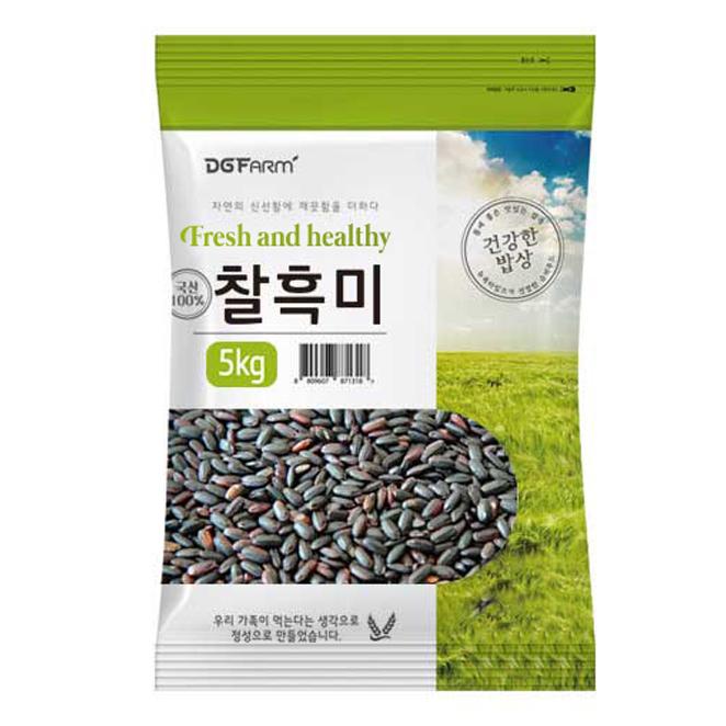 건강한밥상 국산 찰흑미, 5kg, 1개