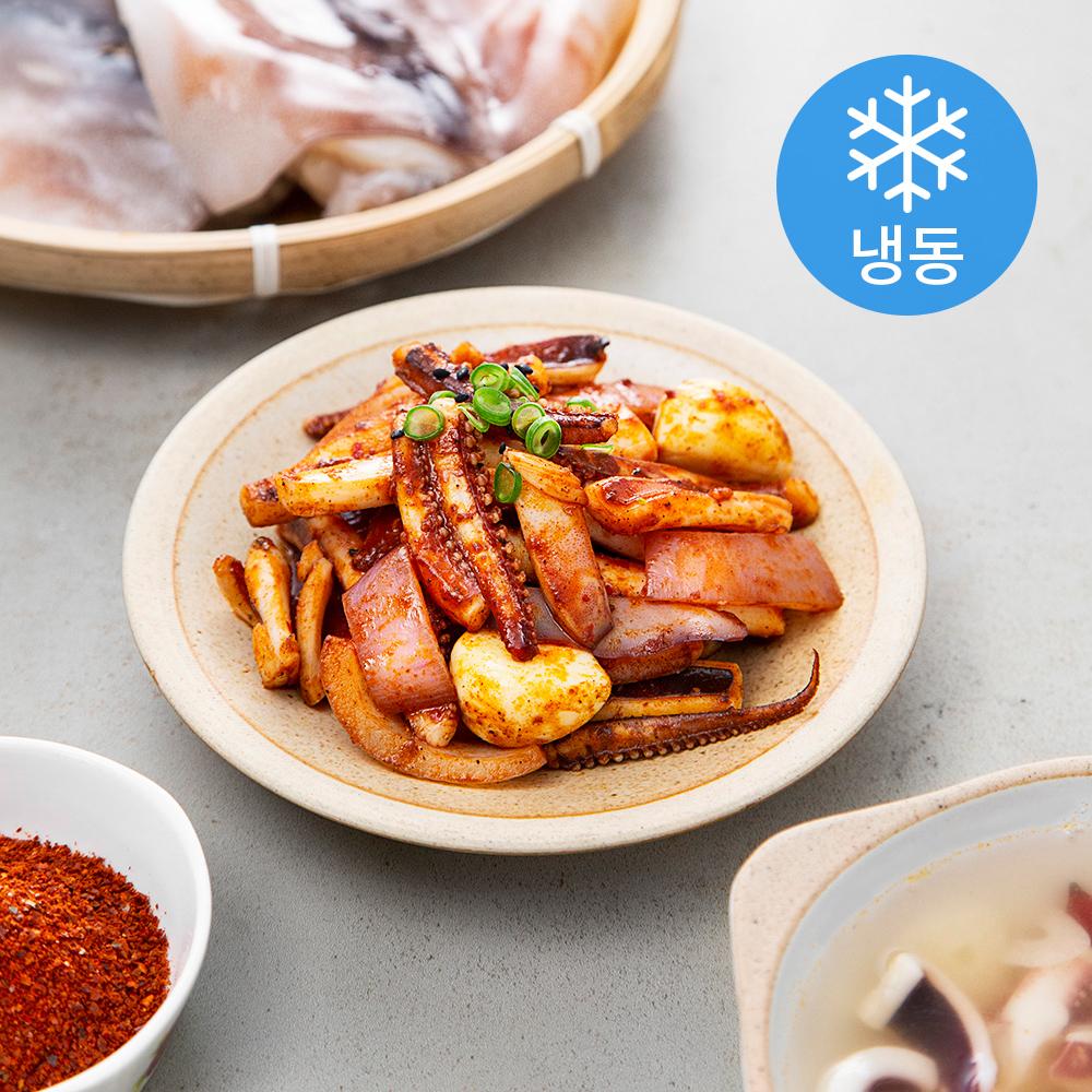 사랑해어 국산 손질 오징어 (냉동), 1kg, 1개