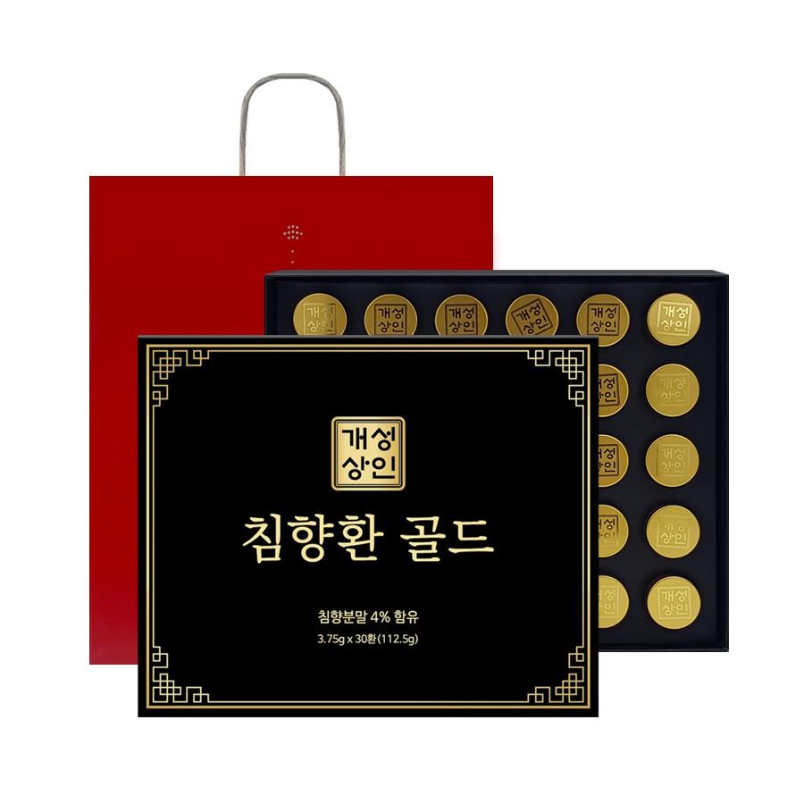 개성상인 침향환 골드 30개입 + 쇼핑백, 112.5g, 1세트