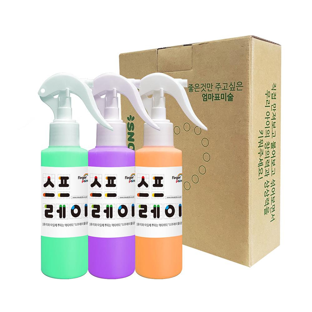 스노우키즈 스프레이물감 세트 B, 140ml, 3색