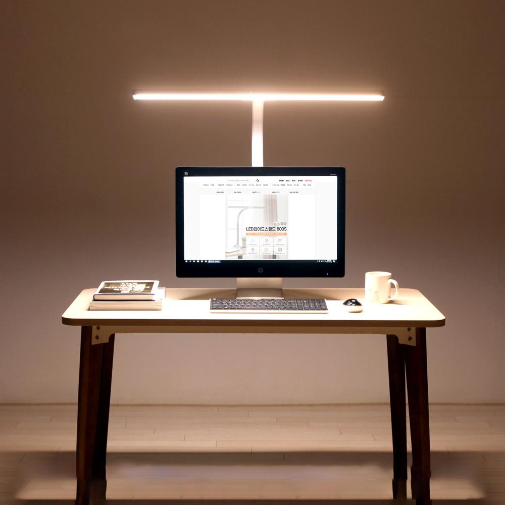 파파 LED 와이드 스탠드 PA-800S, 화이트
