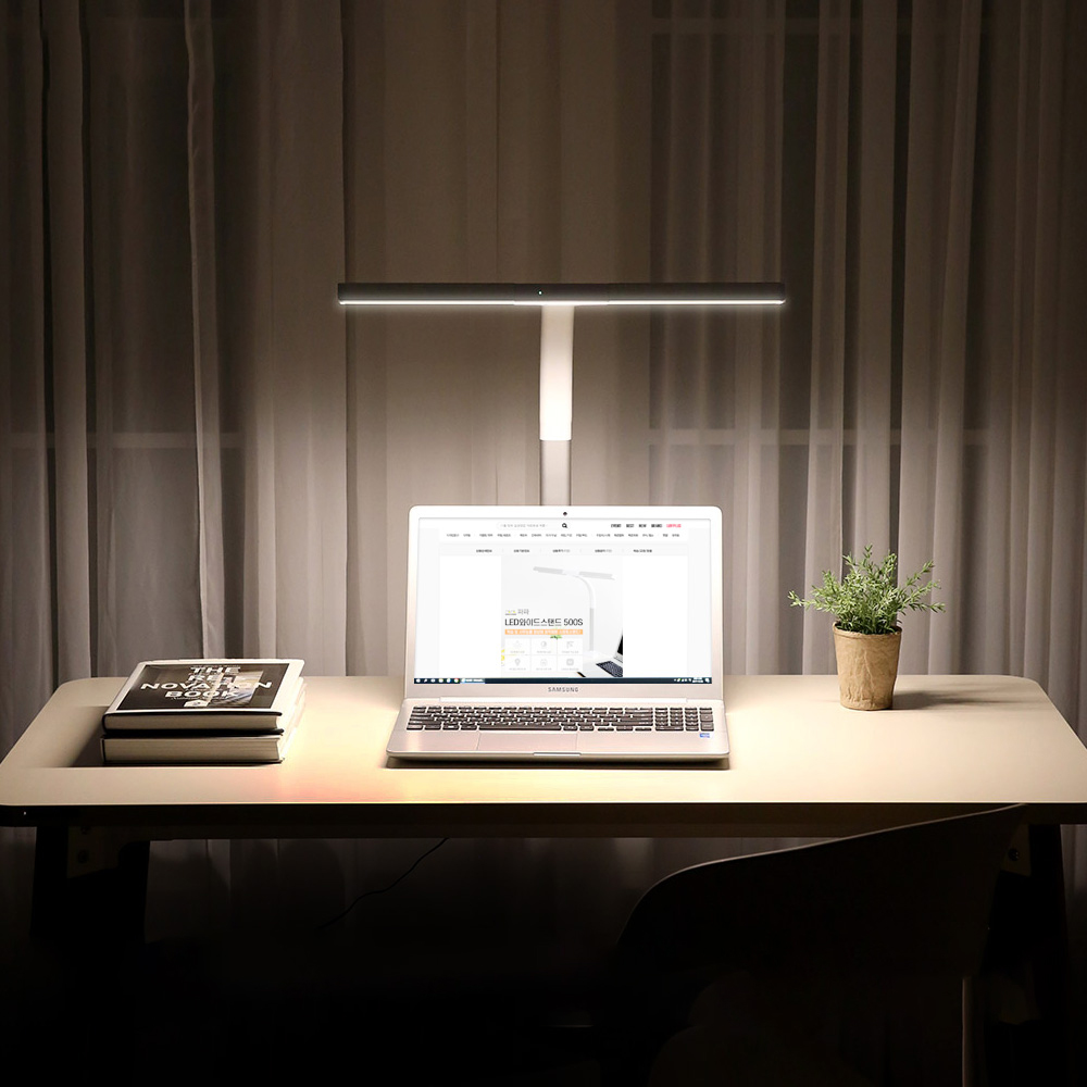 파파 LED와이드스탠드 PA-500S, 화이트