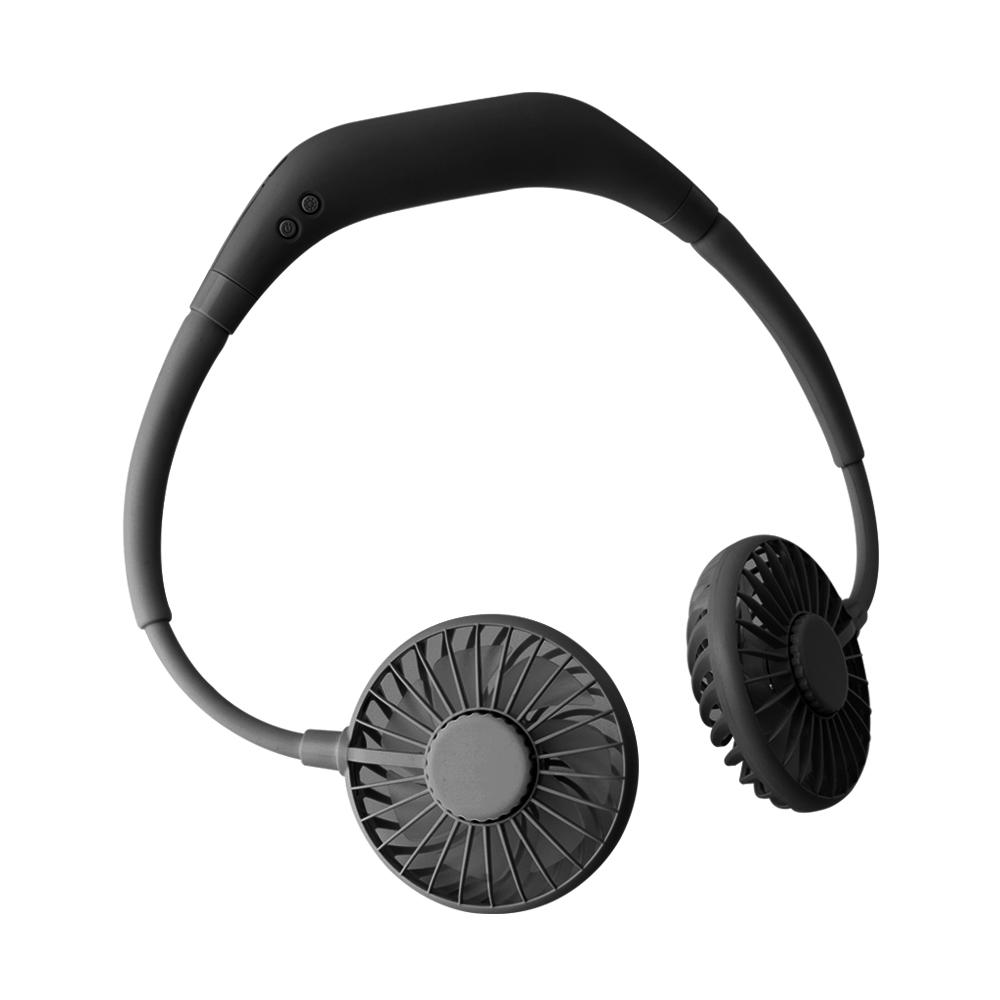 누아트 휴대용 넥밴드 선풍기, 블랙-8-267078195