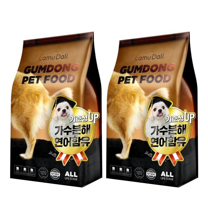라무달리 강아지 금동사료 2p, 가수분해연어, 2개, 2kg