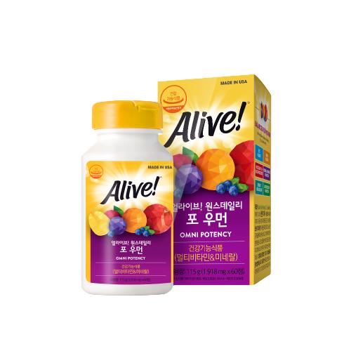 [멀티비타민] 얼라이브 원스데일리 포 우먼 멀티 비타민, 60정, 1개 - 랭킹3위 (19400원)