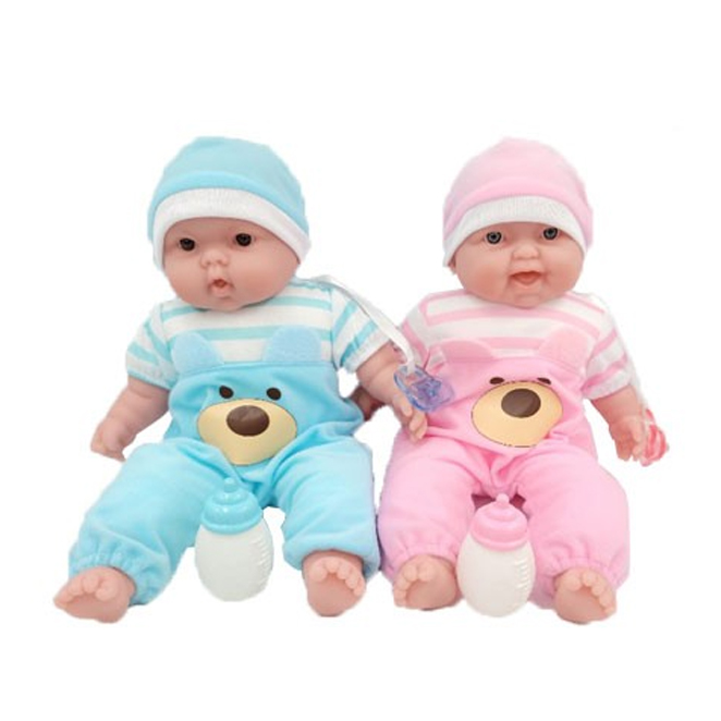 베렝구어 랏츠투쿠들 작은쌍둥이 아기인형 35024, 핑크, 라벤더