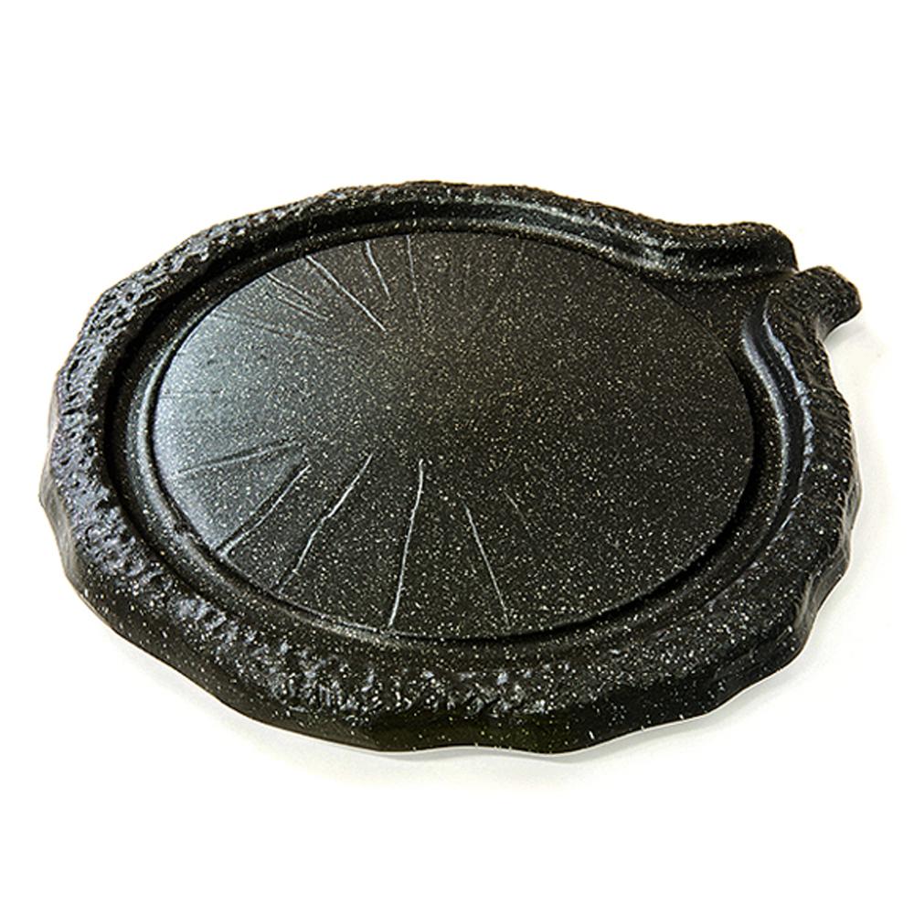 주물 맷돌 고기구이 불고기팬 불판, 360mm, 1개