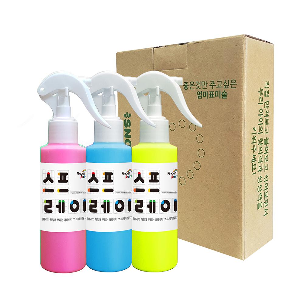 스노우키즈 스프레이물감 세트 A, 140ml, 3색