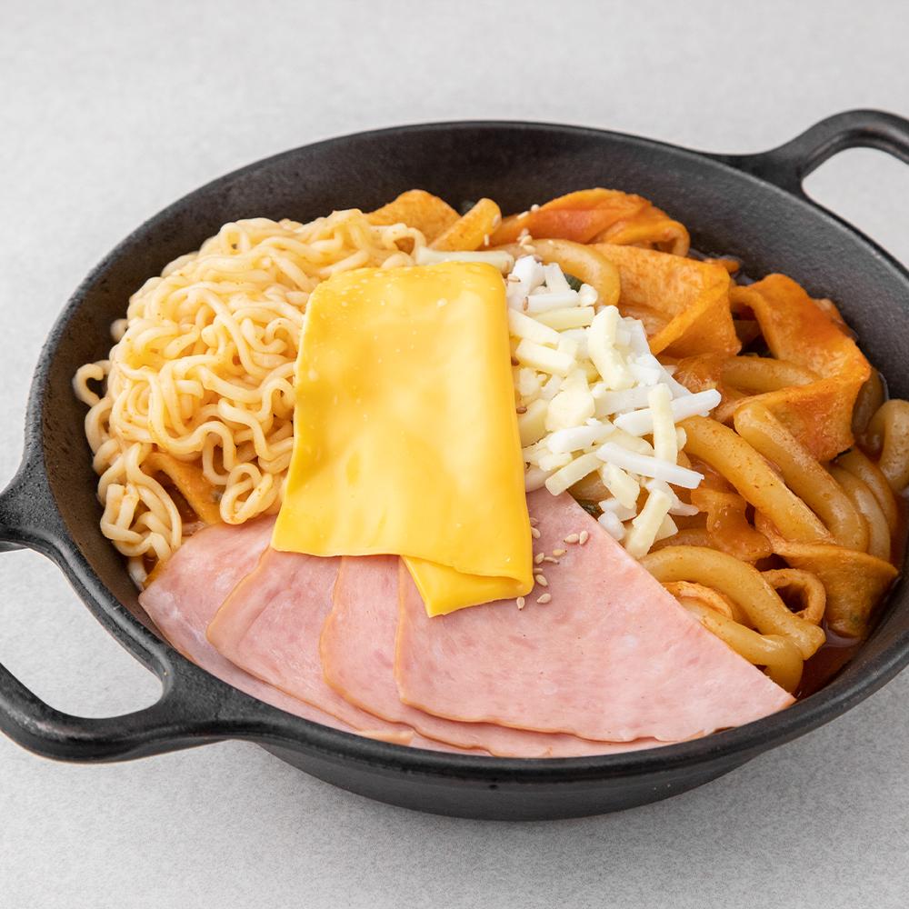 곰곰 옛날식 햄치즈 면 떡볶이 밀키트 (더블치즈), 1개